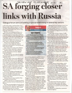 Tom Wheeler explains SA-Russia Relations